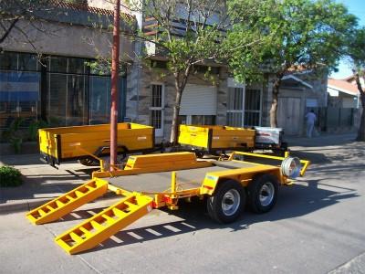 trailer para mini cargadora